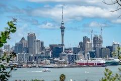 City skyline, Auckland, New Zealand royalty free stock photos