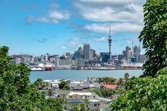 City skyline, Auckland, New Zealand royalty free stock photography