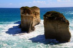 Ocean power. The 12 Apostles on the Great Ocean Road Stock Photography