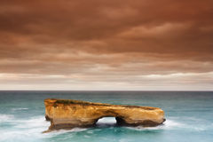 Ocean Power. Beautiful London bridge cliff at Port Campbell in South Australia. Great Ocean Road, 12 Apostles royalty free stock images