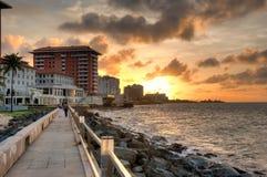 Ocean promenade, Puerto Rico Royalty Free Stock Image