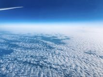 The ocean of the puffy clouds stock images