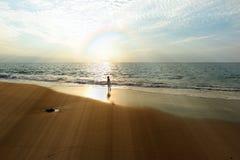 Ocean Rainbow Girl Stock Image