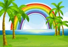 Ocean and rainbow Stock Photography