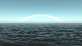Ocean and rainbow stock video