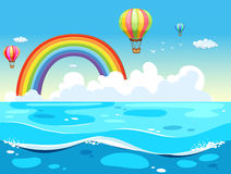 Ocean and rainbow Royalty Free Stock Images