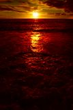 Ocean Red Sunset Stock Images