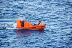 Ocean rescue operation Royalty Free Stock Images
