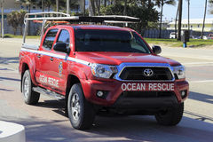 Ocean Rescue Truck Stock Photography