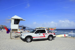 Ocean Rescue Truck Royalty Free Stock Image