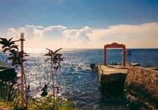 Ocean Resort At Sunset royalty free stock image