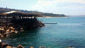 Ocean. Restuarant at the seaside Stock Photos