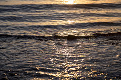 Ocean ripples at the sunset Royalty Free Stock Photos