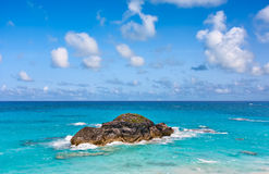 Ocean and Rock. In Horseshoe Bay, Bermuda Stock Photos