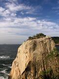 Ocean rock. Located in Praia Vermelha - Red beach, Rio de Janeiro, Brazil royalty free stock photos
