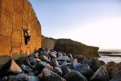 Ocean Rock Climbing Royalty Free Stock Photos