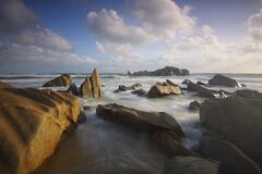 Ocean With Rock Formation Stock Image