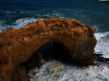 Ocean Rock Formation Stock Images