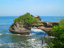 Ocean rock near Pura Batu Bolong temple, Bali Royalty Free Stock Photos