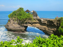 Ocean rock near Pura Batu Bolong temple, Bali Stock Images