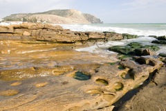Ocean Rock with a view - Horizontal Stock Images