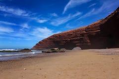 Ocean. Rocks. Beach. Morocco. Stock Photo