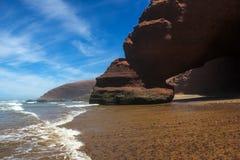 Ocean. Rocks. Beach. Morocco. Stock Image
