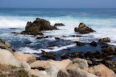 Ocean, Rocks, and Danger. Dangerous rock formation in the ocean stock photos