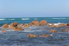 Ocean Rocks Horizon Landscape Stock Images