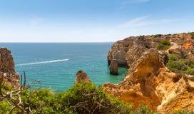 Ocean with rocky cliffs Stock Photos