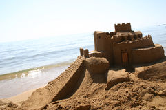 Ocean's Sand Palace royalty free stock photo