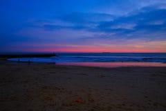 Ocean& x27; s-solnedgång royaltyfri bild