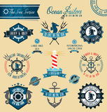Ocean Sailors. Sea inspired set of badges and crests eps10 vector format vector illustration