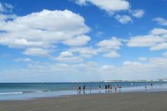 Ocean sand beach Stock Photos
