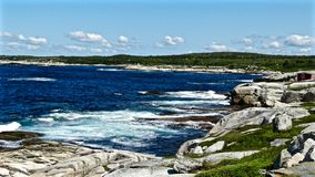 Ocean-scape. This beautiful ocean-scape photo was shot in Peggy's Cove Royalty Free Stock Image