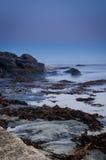 Ocean scena przy nocą Obraz Royalty Free