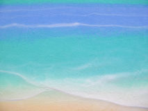 Ocean scene painted on wall Royalty Free Stock Image