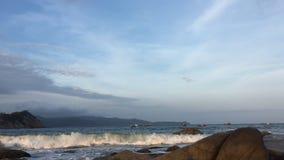 Ocean sceny czasu upływ Wietnam zbiory