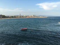 Ocean. Sea in the city ( barcelona Stock Photos