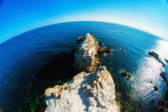 Ocean and sea cliffs in  summer Royalty Free Stock Image