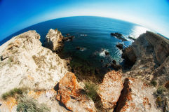 Ocean and sea cliffs in  summer Stock Images