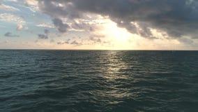Ocean sea sunrise on caribbean island beach. Punta Cana, Dominican Republic.  stock video footage