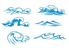 Ocean and sea waves Stock Images