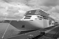 Ocean ship docked Stock Image