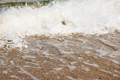 Ocean Shore. Gentle waves splash on shore Royalty Free Stock Image