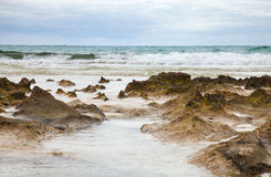 Ocean shore background Royalty Free Stock Photography