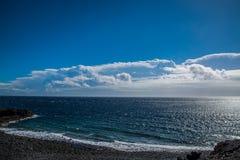 Ocean. Ocean shore. Calm water, calm view royalty free stock photos