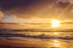 Ocean shore in the morning Royalty Free Stock Images