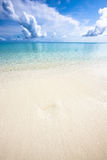 Ocean shore at noon, Kuramathi Stock Photos
