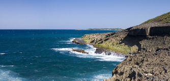 Ocean shore Puerto Rico. Northern ocean shore in Puerto Rico island Stock Photo
